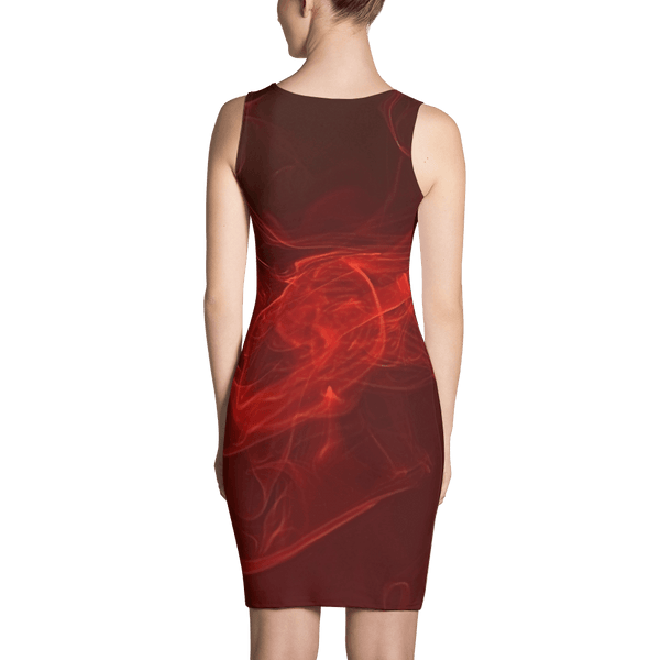 Red Wine Fitted Dress by GearX