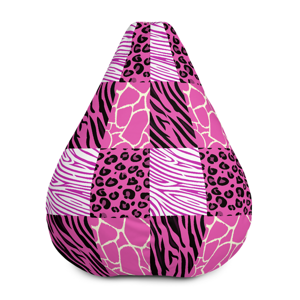 Pink Afriq Bean Bag Chair w/ filling