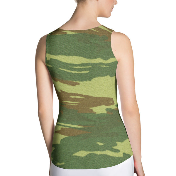 Camo Flg Fitted Tank by GearX