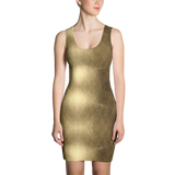 Golden Fitted Dress by GearX