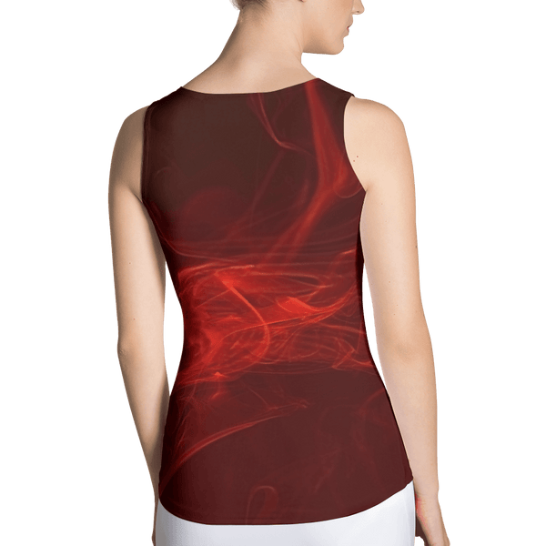 Red Wine Fitted Tank by GearX