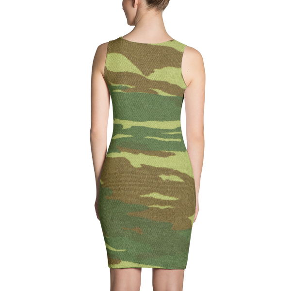 Camo Flg Fitted Dress by GearX