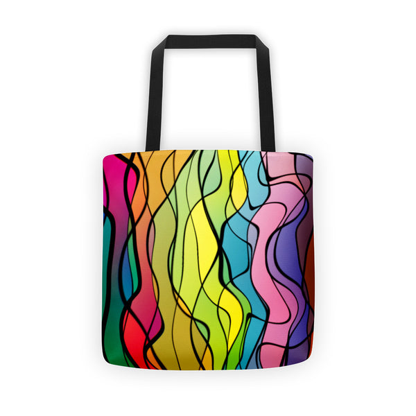 Rainbow Twist Tote bag by GearX