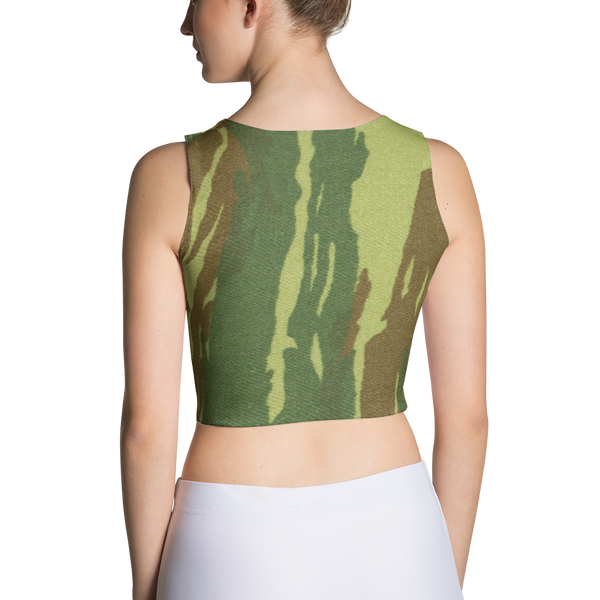 Camo Flg Fitted Crop by GearX