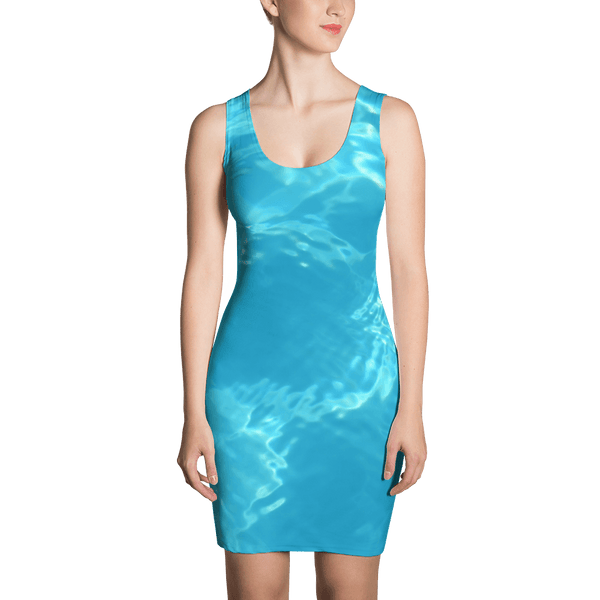 Blue Sea Fitted Dress by GearX