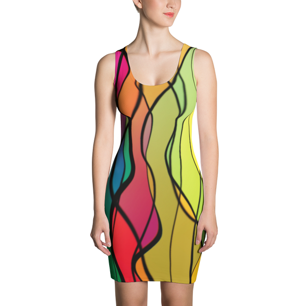 Rainbow Twist Fitted Dress by GearX