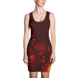 Rust Bokeh Fitted Dress by GearX