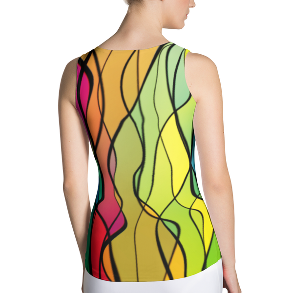 Rainbow Twist FittedTank by GearX