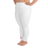 White Plus Size Leggings by GearX