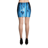 Blue Warp Mini Skirt by GearX