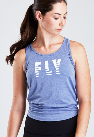 Women's Open Back Fly Crop Tank