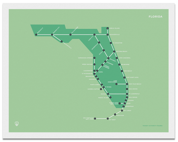 Florida Schematic Map