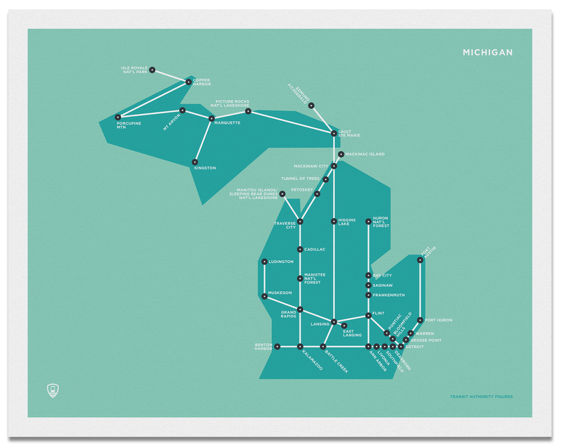 Michigan Schematic Map