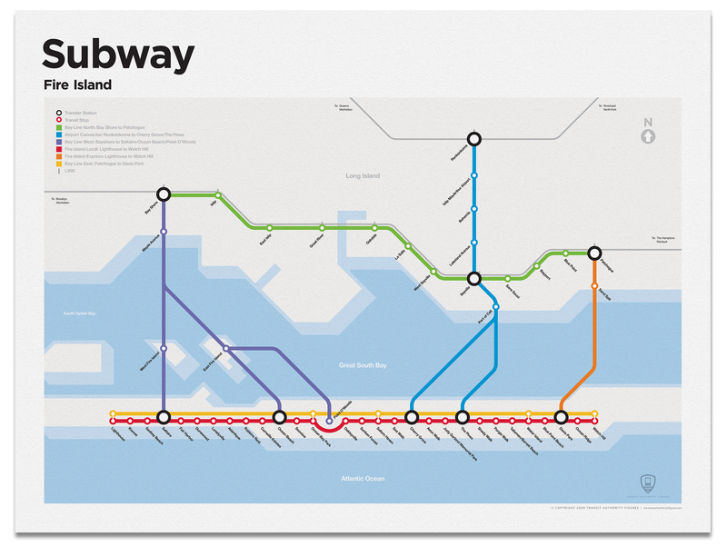 Fire Island Subway Map