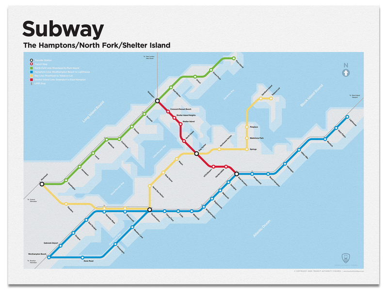 The Hamptons Subway Map