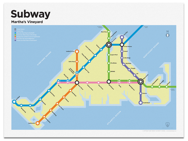 Martha's Vineyard Subway Map