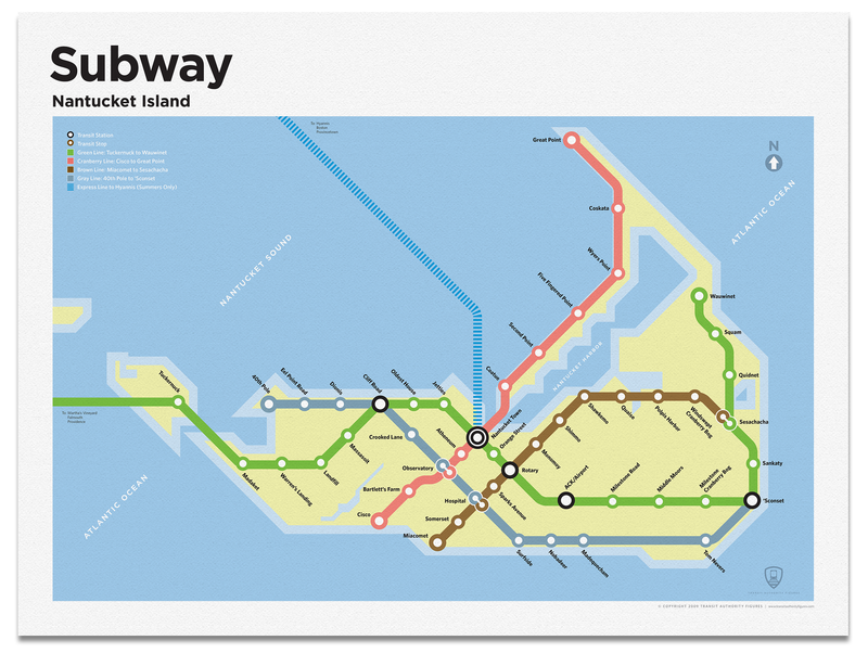 Nantucket Subway Map