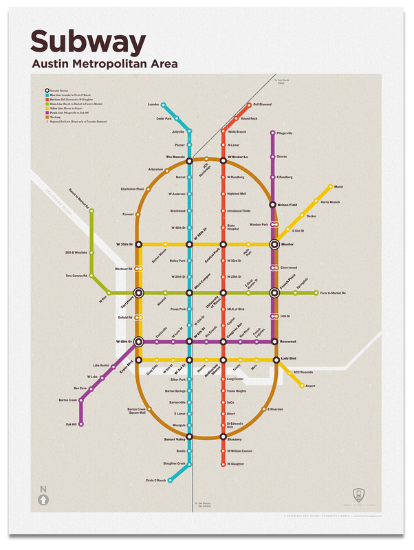 Austin Subway Map