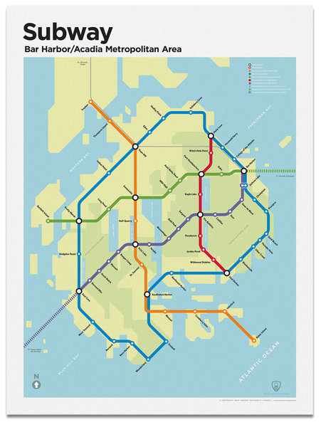Bar Harbor/Acadia National Park Subway Map