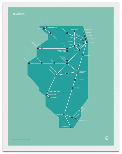 Illinois Schematic Map