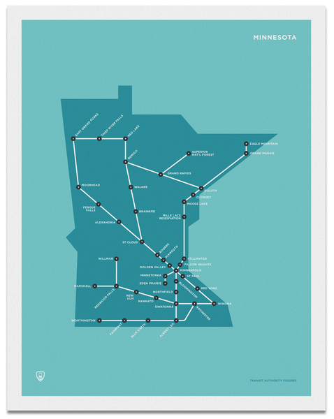 Minnesota Schematic Map