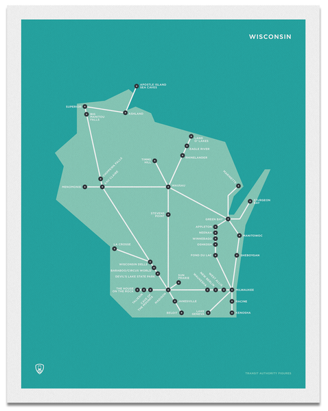 Wisconsin Schematic Map