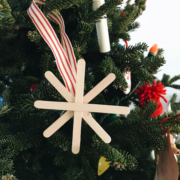12 Days of Handmade - DIY Popsicle Stick Snowflake Ornament