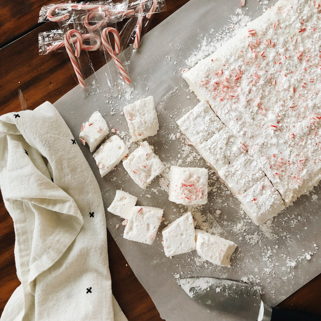 Simple + Delicious Homemade Peppermint Marshmallows