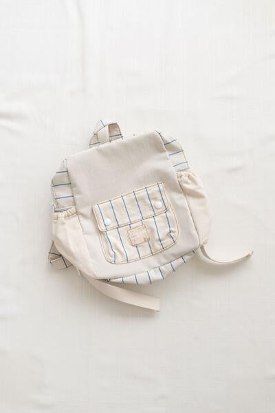tour backpack - toddler size - blue stripe