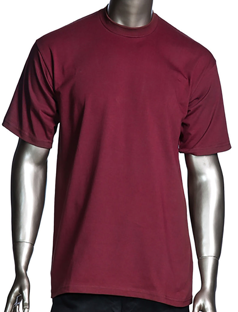 62d8eb44 A pack of THREE Pro Club Short Sleeve shirts Burgundy – sykoutfits.com