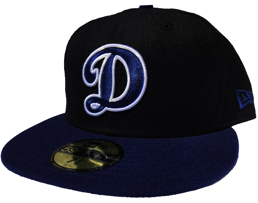44566995 Los Angeles Dodgers Fitted New Era 59FIFTY D Cap Hat Black and Blue