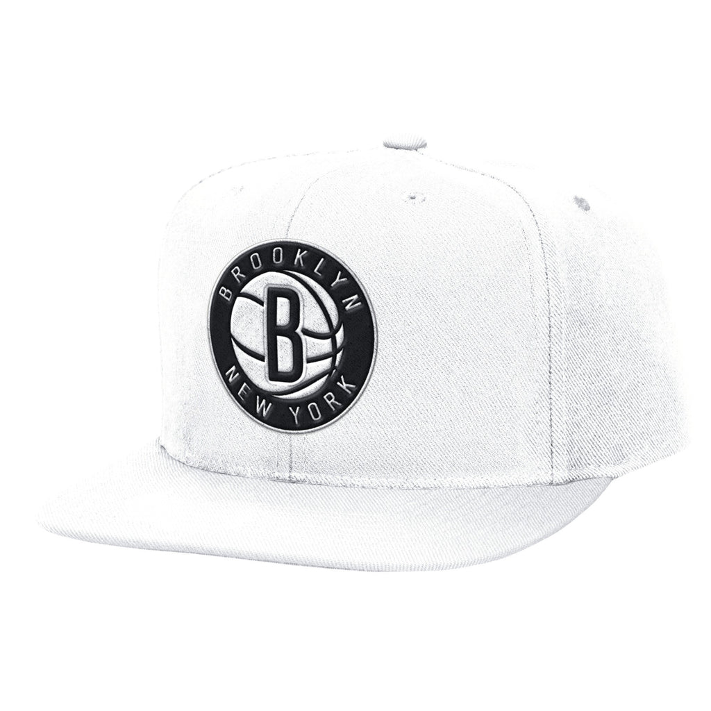 save off d0f09 58c39 ... Brooklyn Nets Logo Mitchell   Ness White Snapback ...