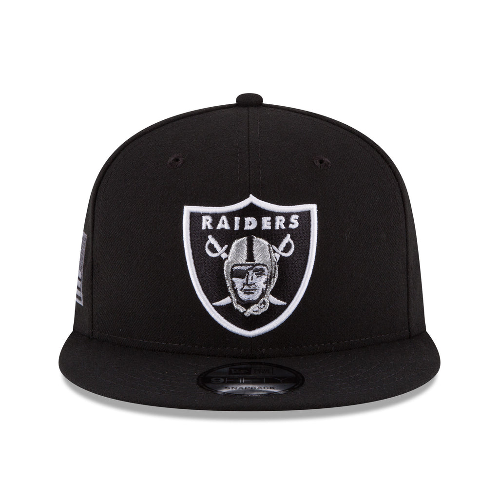 ... New Era Oakland Raiders Black Crafted In America 9FIFTY Snapback  Adjustable Hat ... e4c938e50d6