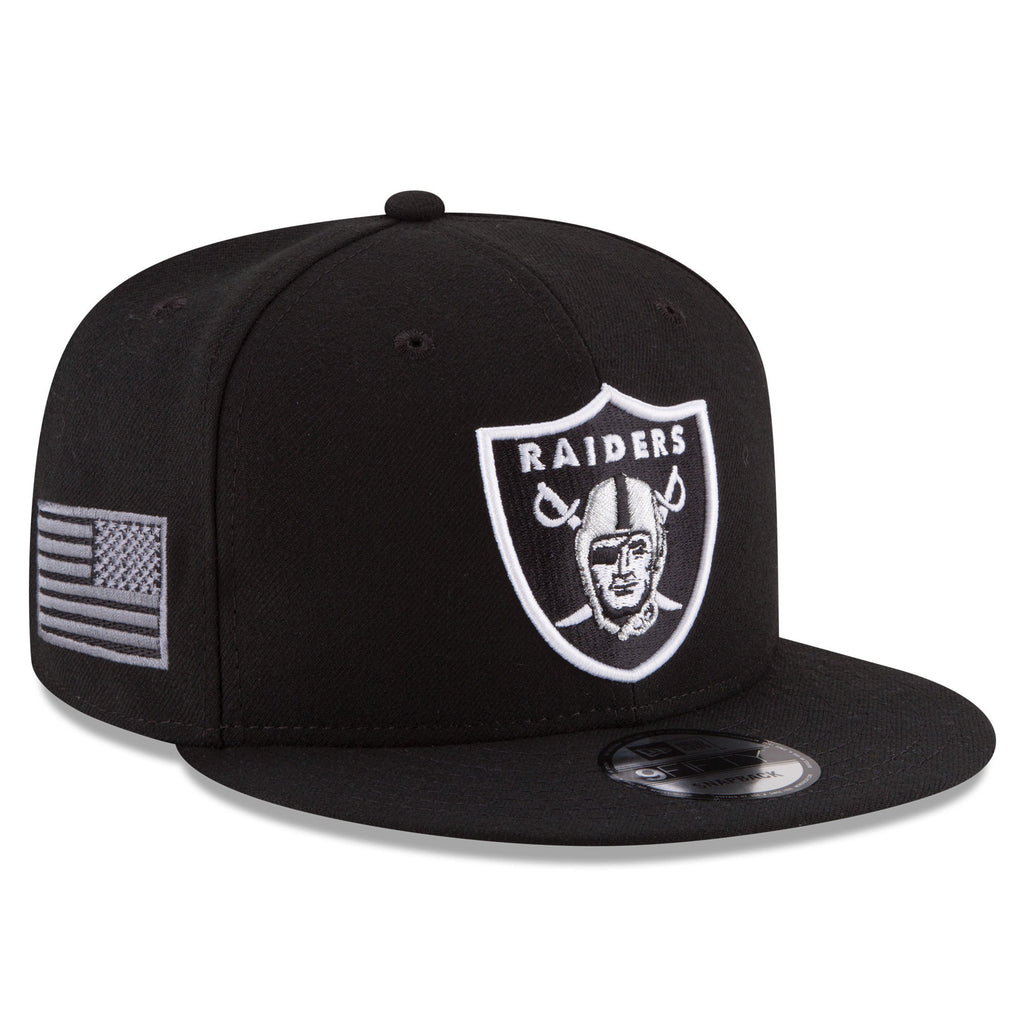 ... New Era Oakland Raiders Black Crafted In America 9FIFTY Snapback  Adjustable Hat ... d33bf64879c6