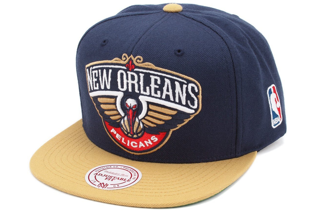 New Orleans Pelicans Mitchell Ness 2 Tone Team Logo Snapback Hat