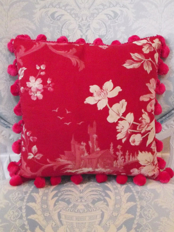 Small Ruby Castle Pillow - VINTAGE RECLAIMED