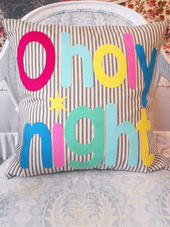 O'holy Night Holiday Pillow