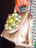 Silver Petaled Handbag - Vintage One of a Kind