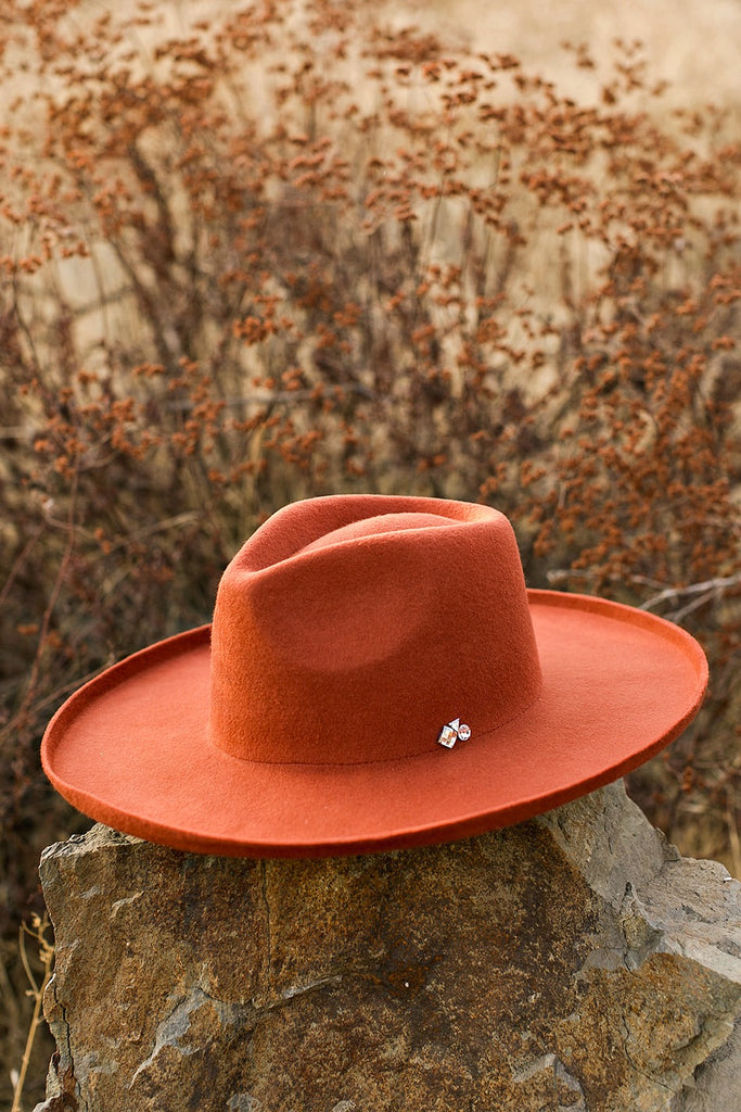 NEW! The Beverly Wool Panama in Rust