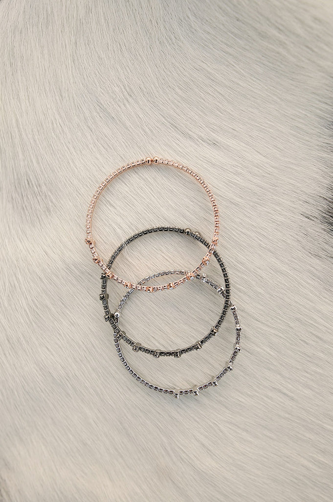 Pave' Cuff Bracelet in 3 Colors