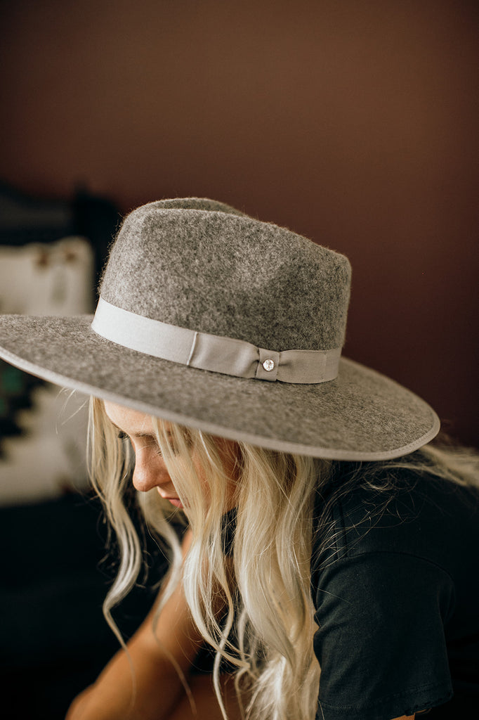 NEW! The Lennon Wool Panama in Grey