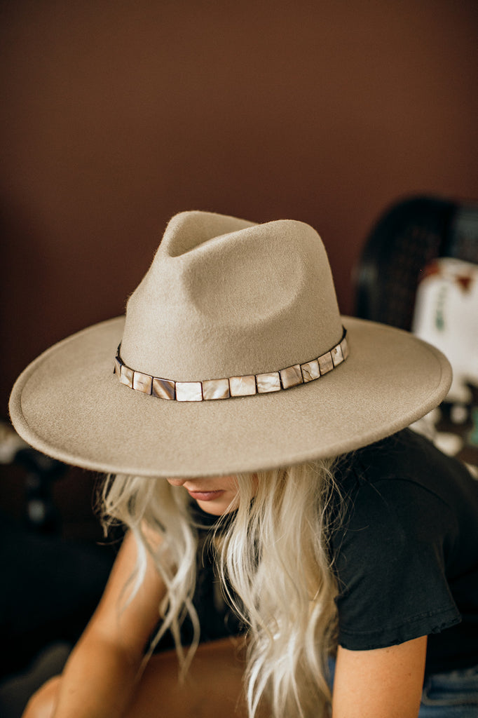 The Abalone Wool Panama Hat in 3 Colors - Glitzy Bella