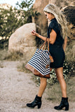 Striped Weekender Bag - Glitzy Bella