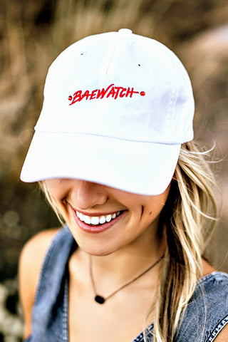 """Baewatch"" Distressed Ball Cap in 2 Colors - Glitzy Bella"