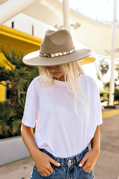 The Abalone Wool Panama Hat in 3 Colors - Out of Stock