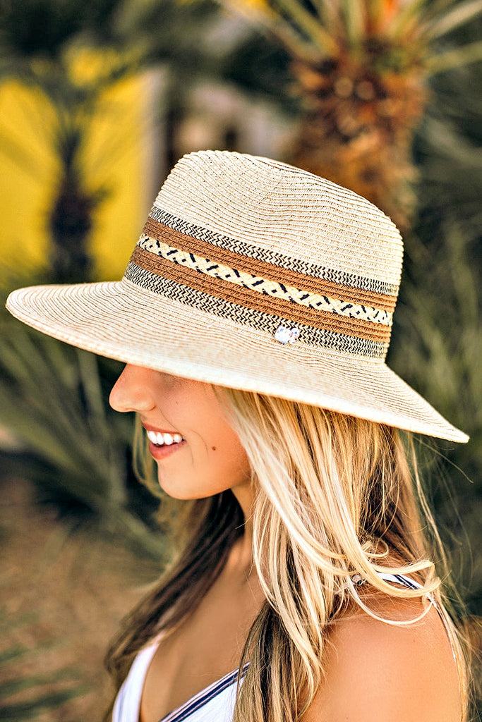 OUT OF STOCK - The Val Tan Stripe Panama