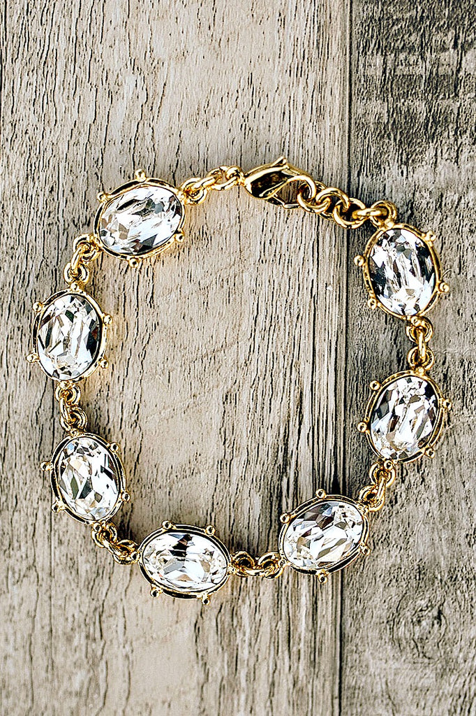 Back in Stock!  Swarovski Crystal Statement Bracelet - Glitzy Bella