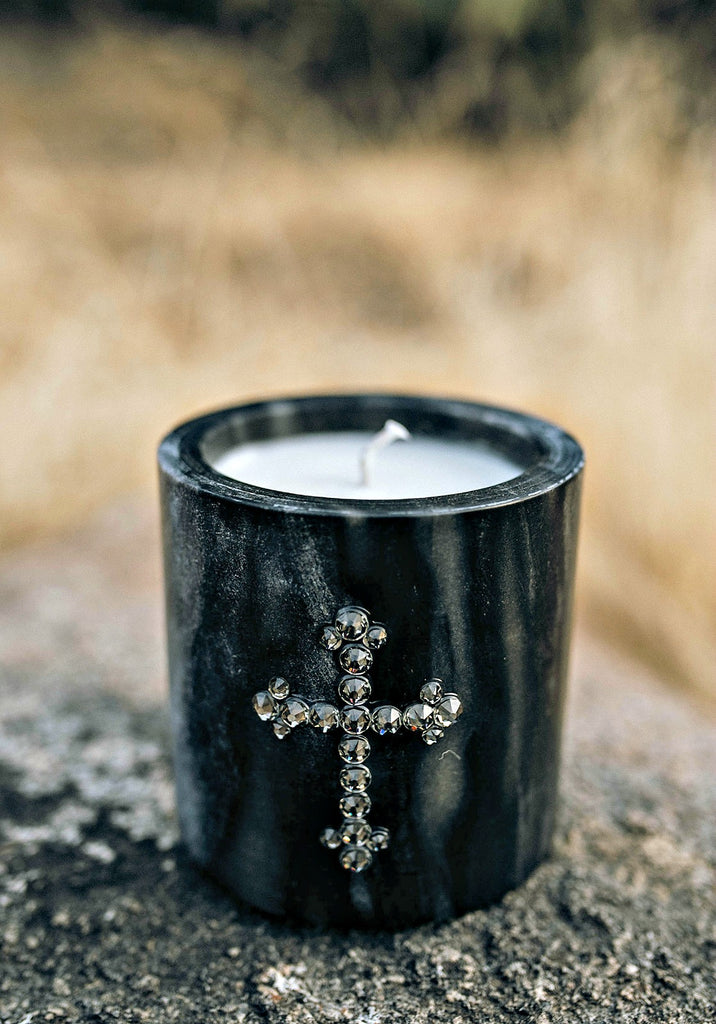 Marble Crystallized Hand Poured Soy Candle