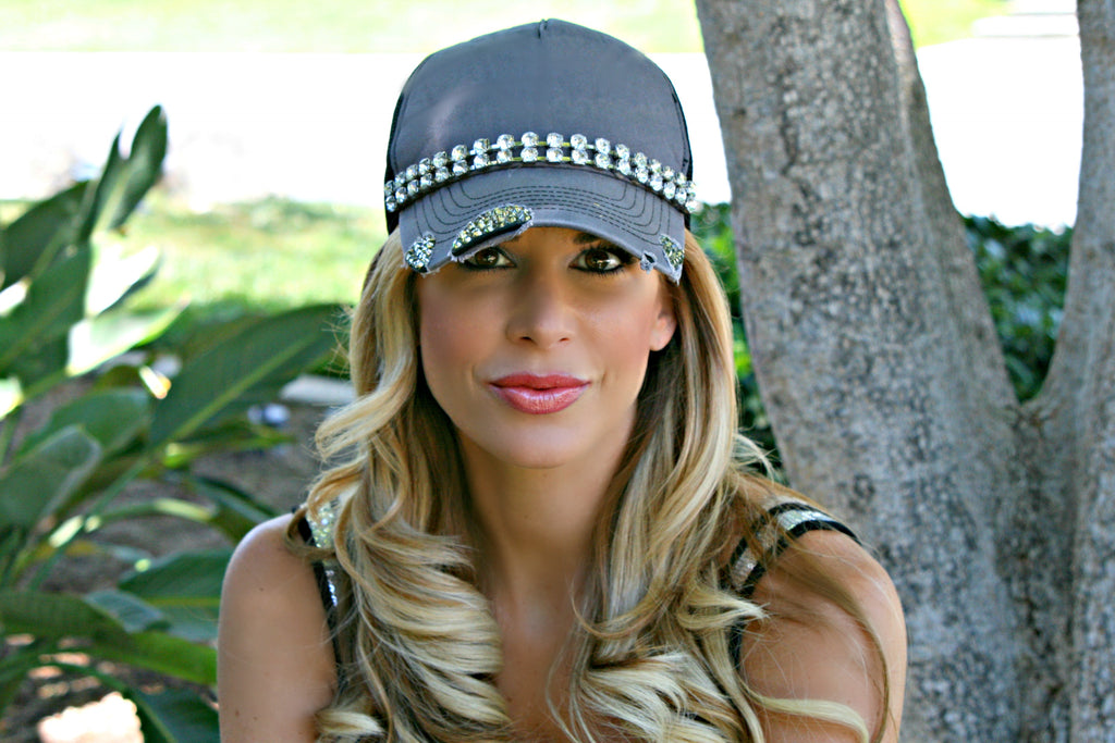 "The Alexis ""Diamond"" Hat - Glitzy Bella"