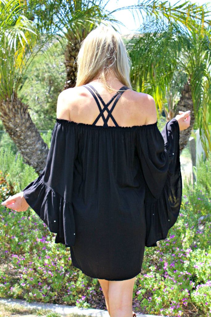 "Alexis ""Valentina"" Off the Shoulder Cover-up Dress"